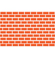 seamless red brick wall - tiled pattern vector image