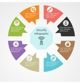 security infographic template vector image vector image