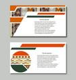 set flyers designed ethnic decor vector image vector image