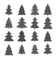 set hand drawn christmas trees vector image vector image