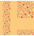 Set of abstract celebration seamless pattern and vector image
