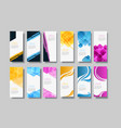 set of banner background template vector image