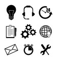 set of call center support icon vector image vector image