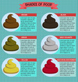 shades color of poop healthy concept vector image vector image