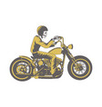 skull ride classic motorcycle clip art vector image