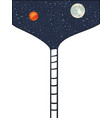 stairway to space to moon and mars vector image