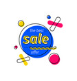 stylish banner with sale offer vector image vector image