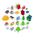 subdual icons set isometric style vector image vector image