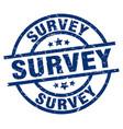 survey blue round grunge stamp vector image vector image