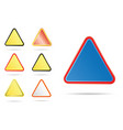triangle road signs vector image vector image