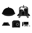 trolley with luggage safe swimming pool clutch vector image