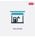 two color fuel station icon from industry concept vector image vector image