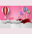 valentines day concept with balloon and heart vector image vector image