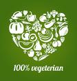 Vegeterian vector image vector image