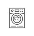 washing machine washer line icon vector image vector image