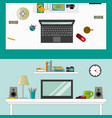 workplace in room - vektor flat style vector image vector image