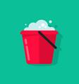 bucket of water icon isolated flat cartoon vector image