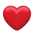 red heart isolated 3d vector image
