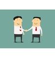 Handshake of two asian businessmen vector image
