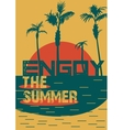 Hello Summer Beach Party Flyer Design vector image