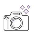 Photo camera icon digital design lens photography vector image