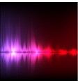 abstract equalizer background purple-red wave vector image vector image