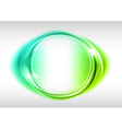 abstract round on white green vector image vector image