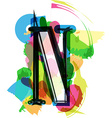 Artistic Font - Letter N vector image vector image