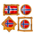 Badge design for flag of norway vector image