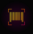 barcode outline colorful icon on dark vector image