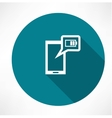 battery icon on the smartphone vector image