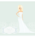 Beautiful blond bride card vector image vector image
