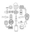 beer icons set outline style vector image vector image