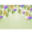 birthday card with green balloons happy birthday vector image vector image