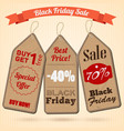 black friday sale design concept vector image