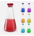 bottles potion vector image