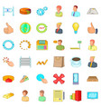 business corporation icons set cartoon style vector image vector image