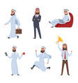 cartoon characters set of arabic vector image vector image