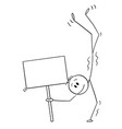 cartoon smiling man performing a handstand vector image vector image