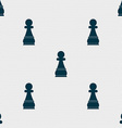 Chess Pawn sign Seamless pattern with geometric vector image vector image
