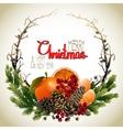Christmas fir wreath vector image