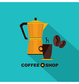 Coffee icon menu Flat design for menu coffee shop vector image