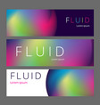 colorful geometric background fluid shapes vector image vector image