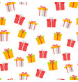 colorful giftboxes cartoon seamless pattern vector image vector image