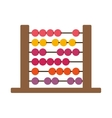 colorful wood abacus with base and spheres vector image vector image