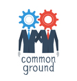 Common ground concept vector image vector image