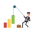 Concept of financial growth Businessman or vector image