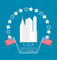 cute city with american flag symbol vector image vector image