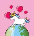 cute unicorn design vector image vector image