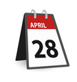 day calendar april vector image